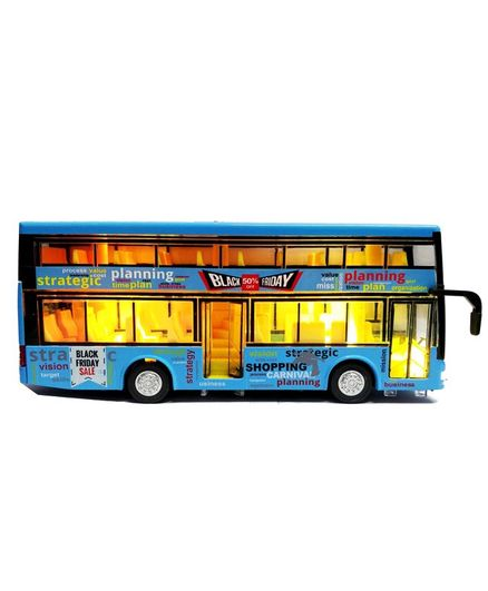 Emob Battery Operated Double Decker Toy Bus Blue for (3-10 Years) Online  India, Buy at FirstCry com - 2325331