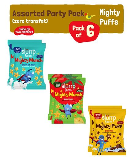 Slurrp Farm Mighty Munch Assorted Party Pack - Pack of 6
