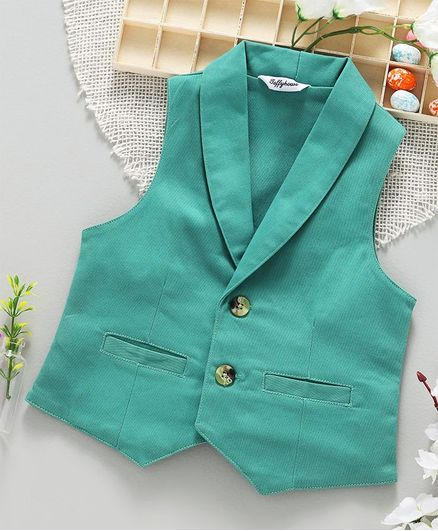 ToffyHouse Party Wear Waistcoat - Green