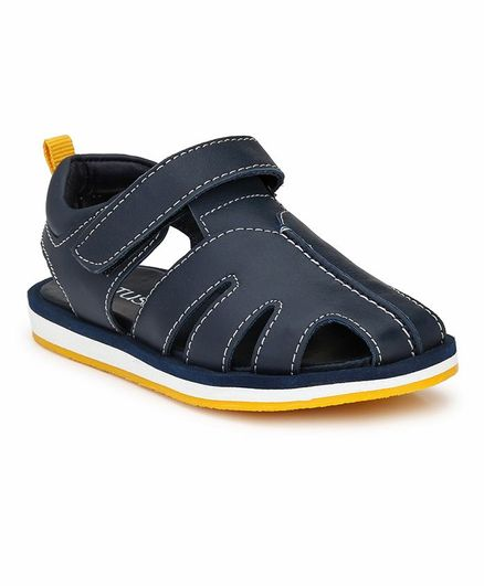 Tuskey Sandals With Velcro Closure - Blue