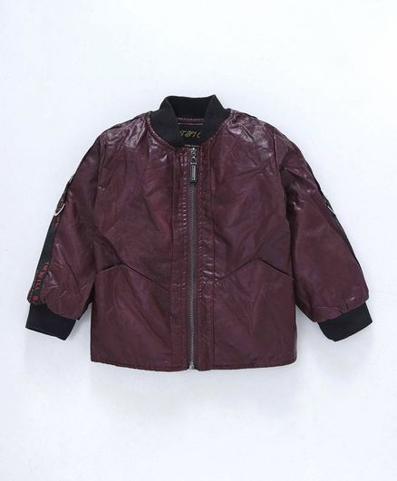 Kookie Kids Full Sleeves Jacket - Maroon