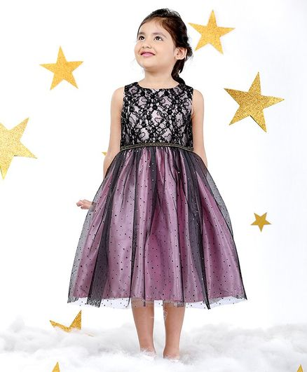 d8a2a14f02 Buy Mark & Mia Sequin Work Sleeveless Dress Purple for Girls (3-4 Years)  Online in India, Shop at FirstCry.com - 2350468