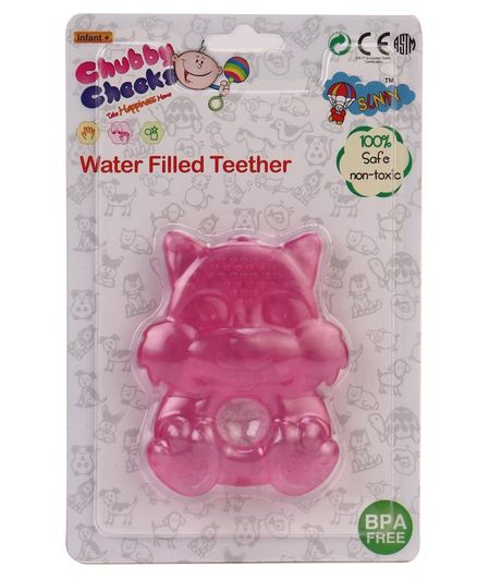 Sunny Animal Shaped Water Filled Teether - Pink