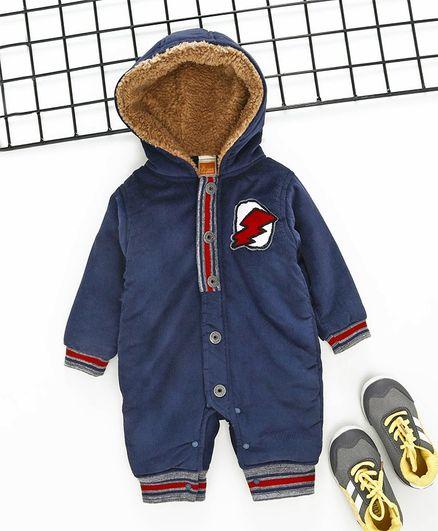 47da23343c6f Buy Little Kangaroos Winter Wear Full Sleeves Hooded Romper ...