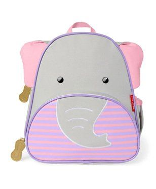 Skiphop Backpack Elephant Design Purple - 11.8 Inches