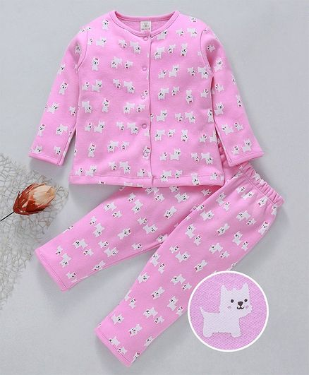 8a37941d2 Buy Baby Naturelle   Me Full Sleeves Night Suit Doggy Print Pink for ...