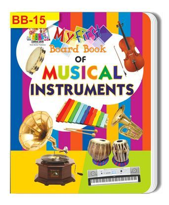 Musical Instruments Themed Board Book - English