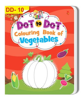 Dot To Dot Colouring Book of Vegetables - English