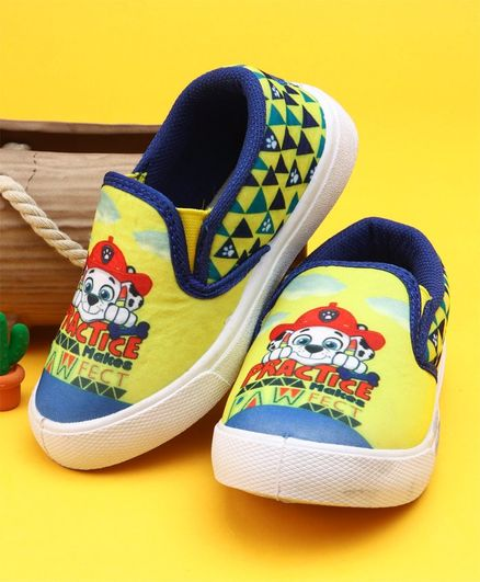e470ea6f4b9b Buy Paw Patrol Slip On Style Canvas Shoes Yellow for Both (2-2 ...