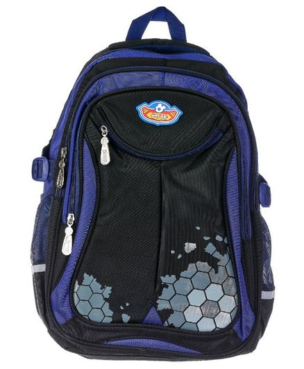SMJM School Bag Navy & Black - 17 Inches