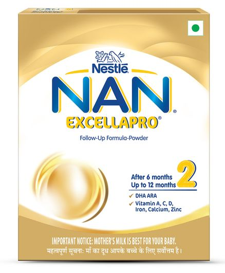 Nestle NAN EXCELLAPRO 2 Follow Up Formula Powder After 6 Months Stage 2 - 400 gm Bag-In-Box Pack