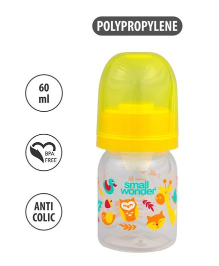 Small Wonder Admire Polypropylene Feeding Bottle Yellow - 60 ml