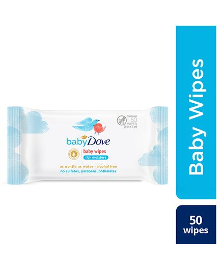 Baby Dove Rich Moisture Wipes - 50 Pieces