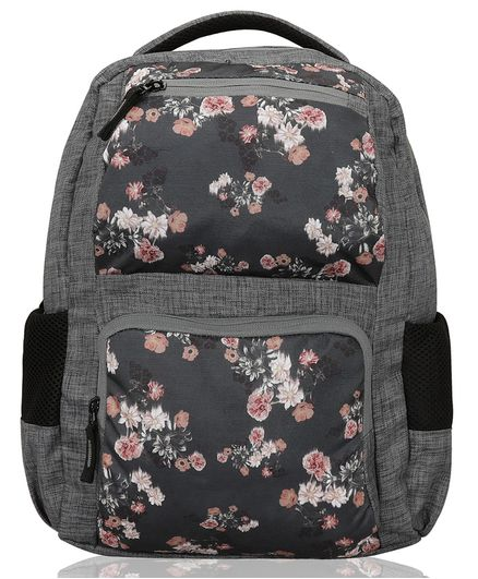 Lost & Found Water Proof Floral Printed Diaper Backpack With Organiser Pouch-1