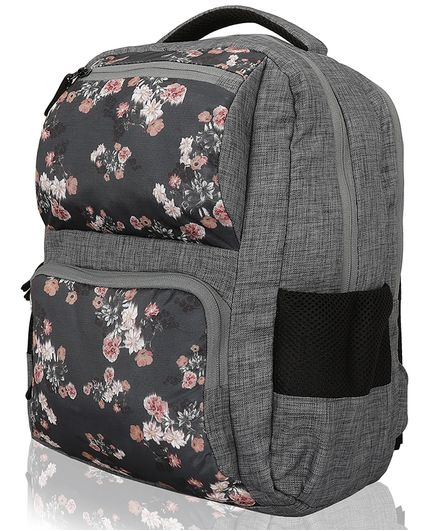 Lost & Found Water Proof Floral Printed Diaper Backpack With Organiser Pouch-2