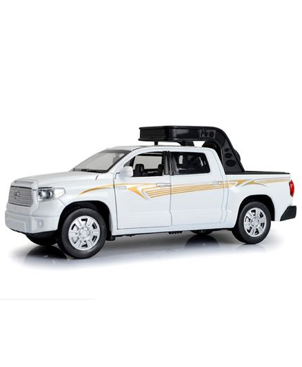 Emob Battery Operated Cast Metal Toyota Pick Up Truck Car White