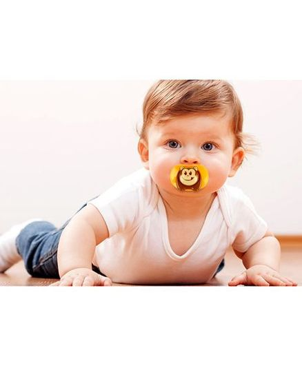 Kassy Pop Silicone Nipple Baby Pacifier Monkey Print - Brown