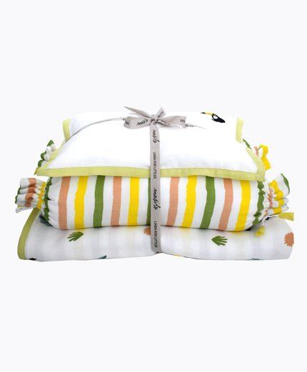 Masilo Tropical Toucan New Baby Mini Cot Set - White Yellow