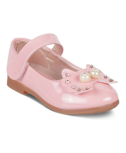 2c4ee80f778a Buy Kittens Shoes Bow   Pearls Embellished Mary Jane Shoes Pink ...