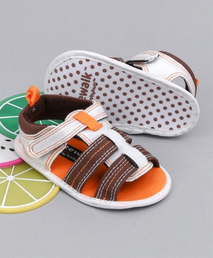 Cute Walk by Babyhug Booties - Brown & Orange