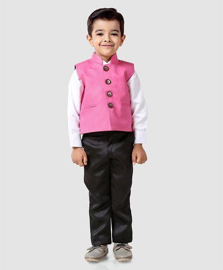 e1b16697 Buy Babyhug 3 Piece Waistcoat Suit Pink for Boys (5-6 Years) Online ...