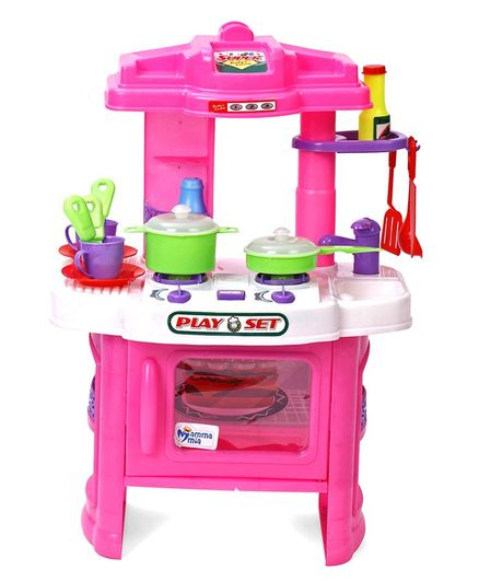 Mamma Mia Kitchen Playset Pink Online India Buy Pretend Play Toys For 3 8 Years At Firstcry Com 2490019