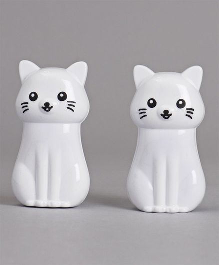 Kitty Shaped Sharperner Pack of 2 - White