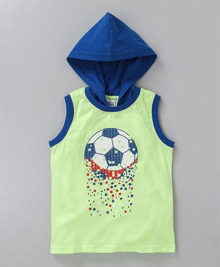 de98472bc Buy Taeko Sleeveless Hooded Tee Football Print Green for Boys (2-3 ...
