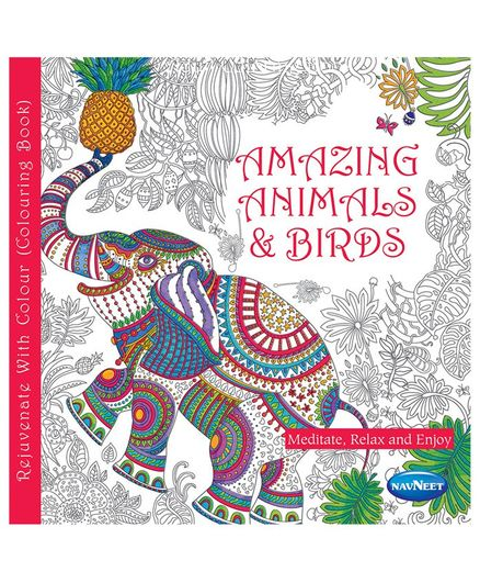 Amazing Animals & Birds Coloring Book - English