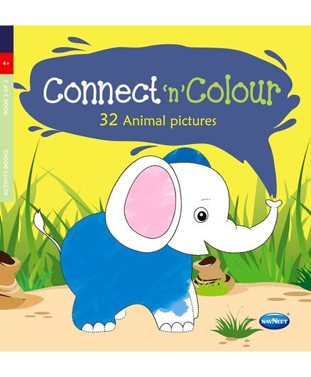 Connect & Color Animal Pictures Colouring Book - English