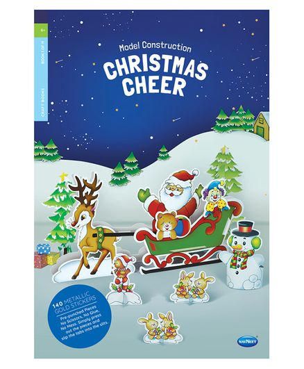 Model Construction Christmas Cheer Craft Book With Stickers - English