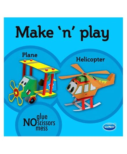 Make N Play Plane & Helicopter Models - English