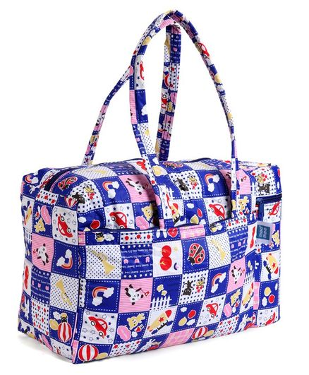 Mee Mee Nursery Bag With Insulated Bottle Holder Multi Print - Blue
