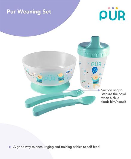 Pur Weaning Set Blue - Cup Capacity 250 ml