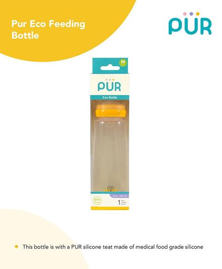 Pur Eco Feeding Bottle Yellow - 250 ml