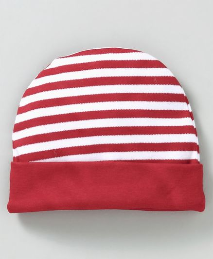 693a243d8d6 Babyhug Cotton Round Cap Stripes Pattern Red Online in India