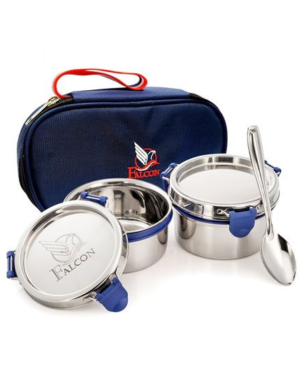 98744d57f06 Falcon Eco Nxt Stainless Steel Lunch Box Set With Spoon Navy ...