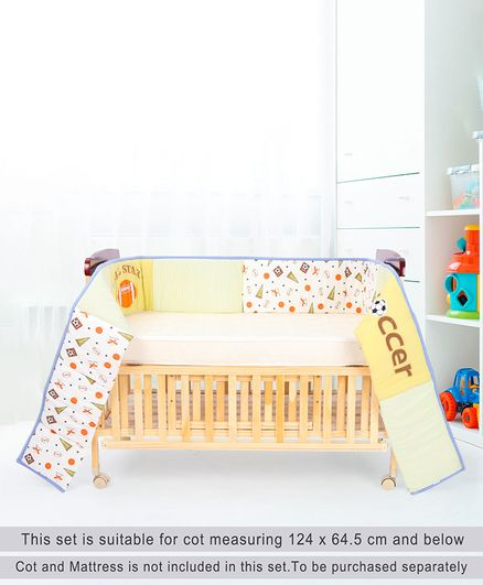Babyhug Premium Cotton Crib Bumper Regular - Sports Theme