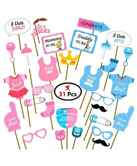 Party Propz Baby Shower Props Pink Blue 31 Pieces Online In India