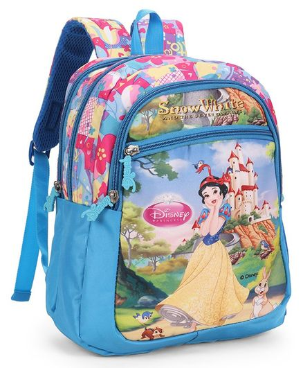 Disney Snow White School Bag Blue - Height 16 Inches