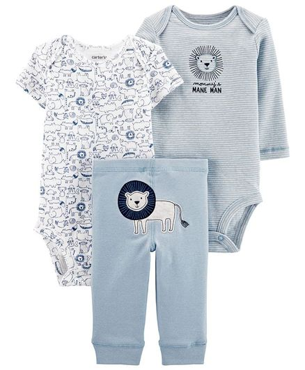Carter's 3 - Piece Lion Little Character Set - Light Blue & White