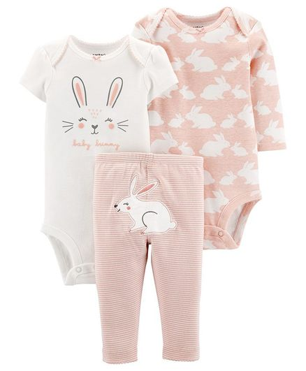 Carter's 3-Piece Bunny Little Character Set - Pink