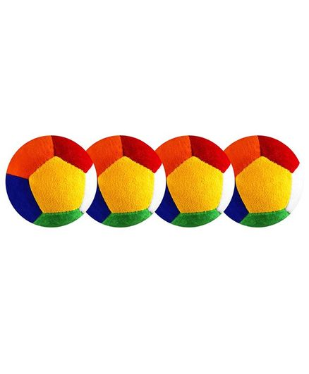 O Teddy Big Soft Toy Ball Pack of 4 Multicolour - 11 cm