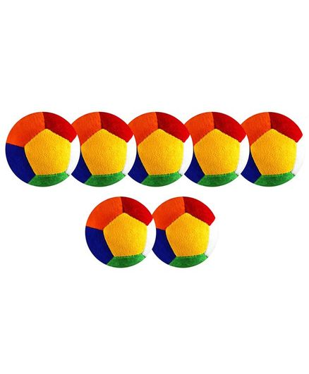 O Teddy Big Soft Toy Ball Pack of 7 Multicolour - 11 cm