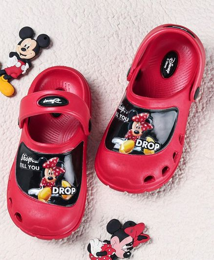 Cute Walk by Babyhug Clogs Minnie Mouse Print - Red