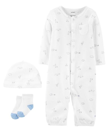 Carter's 3-Piece Babysoft Take-Me-Home Set - White