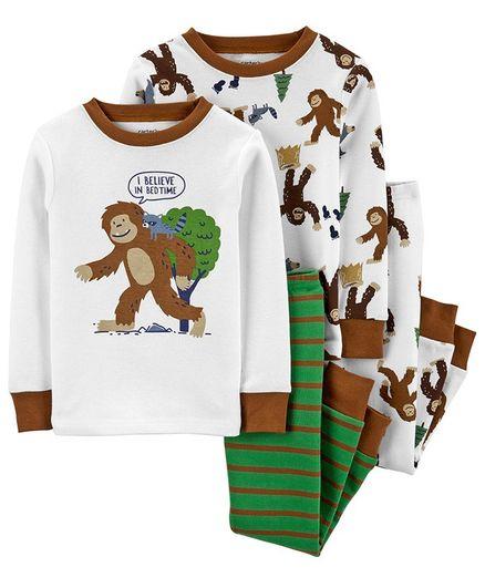 NEW Carter/'s 1 Piece Fleece Brown Raccoon Face PJs Boys NWT 12m 18m Pajamas