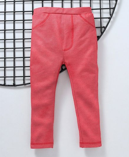 Earth Conscious Full Length Solid Leggings - Pink