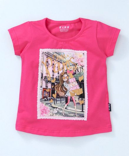 7faa4f82b Buy Fido Short Sleeves Tee Graphic Print Pink for Girls (2-3 Years ...