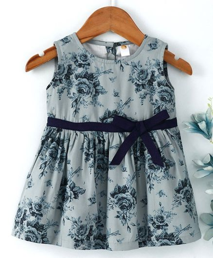 63d6d0bc9f33 Buy Dew Drops Sleeves Less One Piece Dresses   Frocks GREY 24 ...